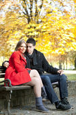 Tender love young couple — Stock Photo