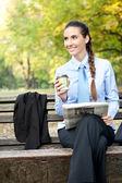 Negocios de descanso en el parque — Foto de Stock