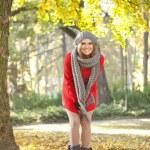 Happy autumn girl — Stock Photo #8512352