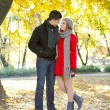 Romantic love in autumn — Stock Photo #8512401