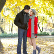 Romantic love in autumn — Stock Photo