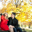 Young man courting a girl - Stock fotografie