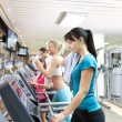 Running at the fitness club — Stock Photo