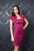 Girl in elegant pink dress — Stock Photo