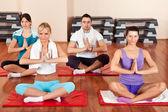 Group of doing yoga exercises — Stock Photo