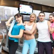 Team in gym — Stock Photo