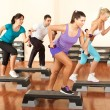 Постер, плакат: Stepping with dumbbells