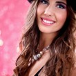Beautiful woman  with hat — Stock Photo