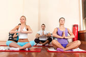 Young practice yoga — Stock Photo