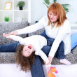 Happy mother and daughter playing — Stock Photo #9772382
