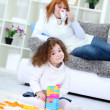 Girl playing with her toys — Stock Photo #9772482