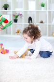 Playing little girl — Stock Photo