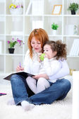 Mother and daughter together — Stock Photo
