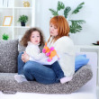 Mum and her little daughter spend time together — Stock Photo