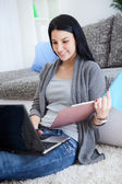 Student girl learning — Stock Photo