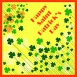 Happy Saint Patrick's Day Background — Stock Vector