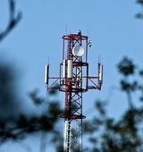 Mobile phone mast - BTS — Stock Photo