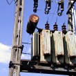 Stock Photo: Electrical transformer