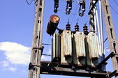 The electrical transformer — Stock Photo