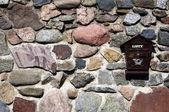 Stone fence — Stok fotoğraf