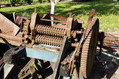 The machine for cutting straw into chaff — Stock Photo