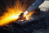 Plynové řezání — Stock fotografie