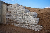 Gabions placed on each other — Stock Photo