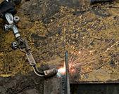 Gas cutting — Stock Photo