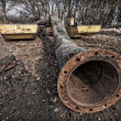 Flanged pipe — Stock Photo