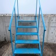 Stock Photo: Metal stairs