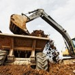 Tracked excavator — Stock Photo