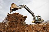 Tracked excavator — Stock Photo