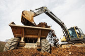 Tracked excavator — Fotografia Stock
