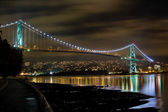 Lions Gate Bridge at Night — Stock Photo