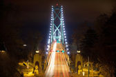 Lions Gate Bridge Entrance at Night — Stock Photo
