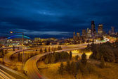 Seattle City Skyline at Blue Hour — Stock Photo