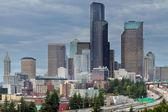 Seattle City Skyline at Rush Hour — Stock Photo