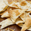 Homemade flour tortilla chips — Stock Photo