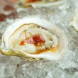 Stock Photo: Oyster half shell