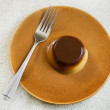 Stock Photo: Caramel flan