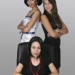 Three professional businesswoman in an office — Stock Photo