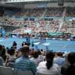 Professional tennis at the 2012 Australian Open - Stock Photo