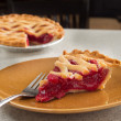 Stock Photo: Slice of cherry pie