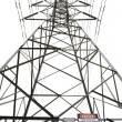 High voltage power pole — Stock Photo