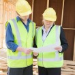 At the construction site — Stock Photo