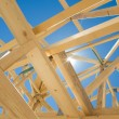 New home construction framing — Stock Photo #7979517