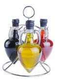 Olive oil and vinegar — Stock Photo