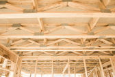 New home construction framing.Fragment. — Stock Photo