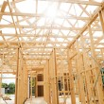 New home construction framing. — Stock Photo #9633773