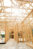 New home construction framing. — Foto Stock